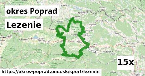 lezenie v okres Poprad