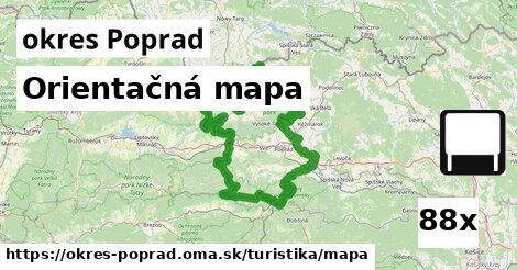 orientačná mapa v okres Poprad