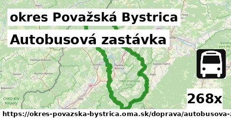 ilustračný obrázok k Autobusová zastávka, okres Považská Bystrica