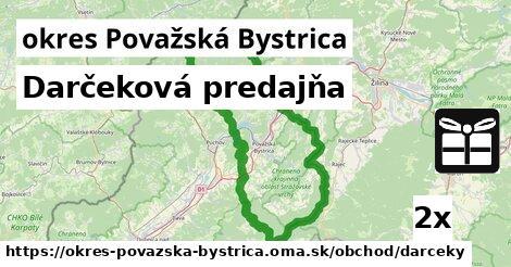 ilustračný obrázok k Darčeková predajňa, okres Považská Bystrica
