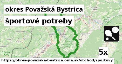 ilustračný obrázok k športové potreby, okres Považská Bystrica
