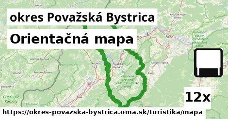 orientačná mapa v okres Považská Bystrica