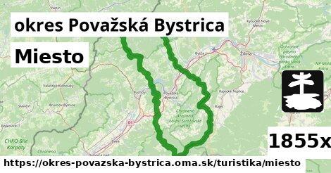miesto v okres Považská Bystrica