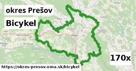 bicykel v okres Prešov