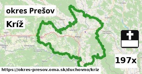 kríž v okres Prešov