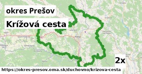 ilustračný obrázok k Krížová cesta, okres Prešov