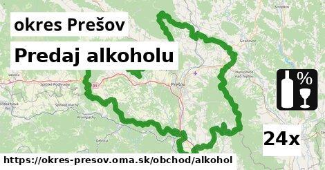 ilustračný obrázok k Predaj alkoholu, okres Prešov
