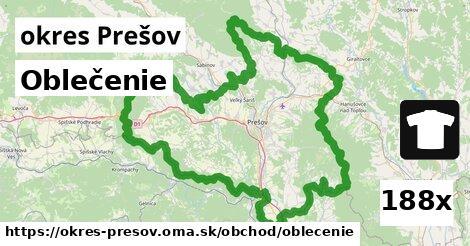 ilustračný obrázok k Oblečenie, okres Prešov