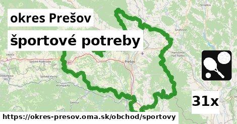 ilustračný obrázok k športové potreby, okres Prešov