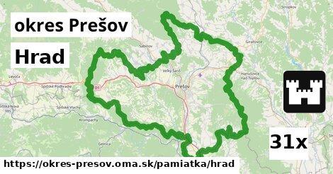 hrad v okres Prešov