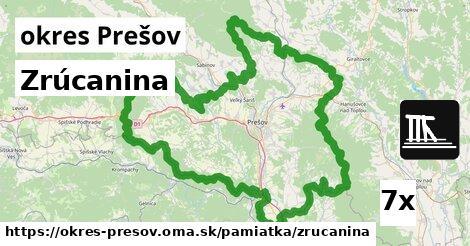 zrúcanina v okres Prešov