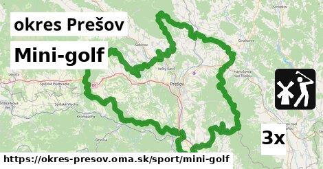 ilustračný obrázok k Mini-golf, okres Prešov