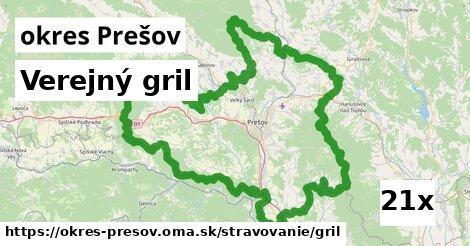 verejný gril v okres Prešov