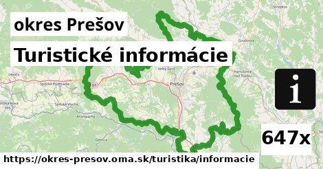 turistické informácie v okres Prešov