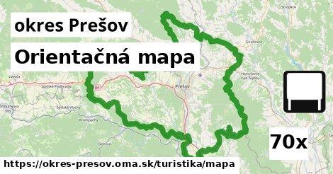 orientačná mapa v okres Prešov
