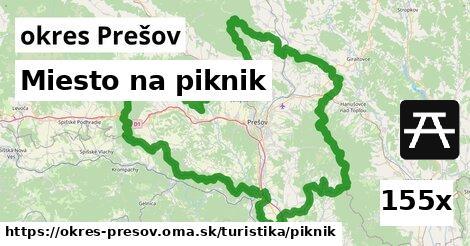 miesto na piknik v okres Prešov