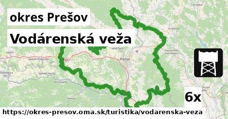 vodárenská veža v okres Prešov