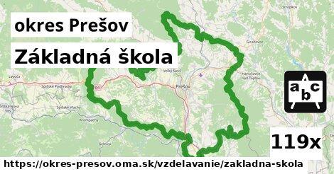 základná škola v okres Prešov