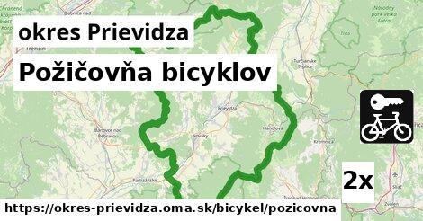 požičovňa bicyklov v okres Prievidza