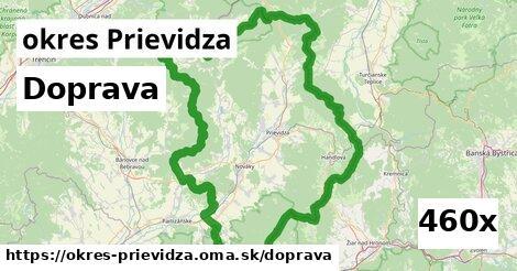 doprava v okres Prievidza