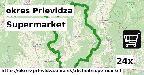 Supermarket, okres Prievidza