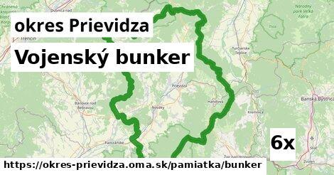 Vojenský bunker, okres Prievidza