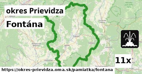 Fontána, okres Prievidza