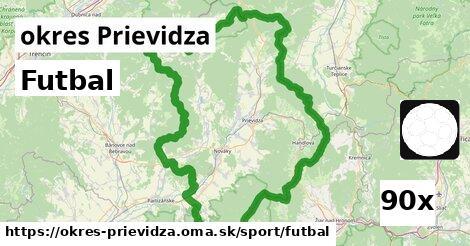 Futbal, okres Prievidza