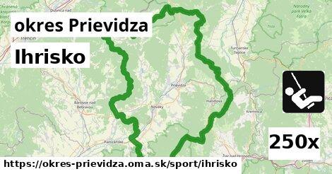 ihrisko v okres Prievidza