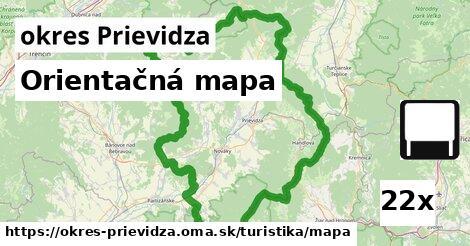 orientačná mapa v okres Prievidza