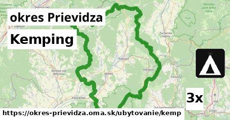 Kemping, okres Prievidza