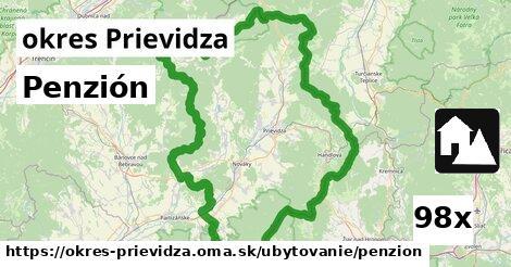 penzión v okres Prievidza