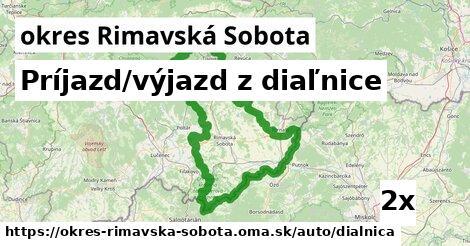 ilustračný obrázok k Príjazd/výjazd z diaľnice, okres Rimavská Sobota