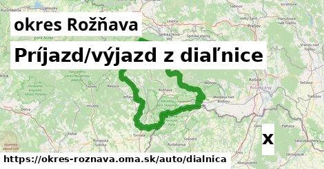 ilustračný obrázok k Príjazd/výjazd z diaľnice, okres Rožňava