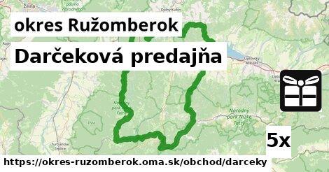 ilustračný obrázok k Darčeková predajňa, okres Ružomberok