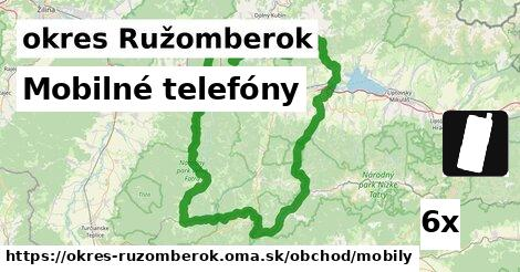 ilustračný obrázok k Mobilné telefóny, okres Ružomberok