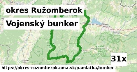 ilustračný obrázok k Vojenský bunker, okres Ružomberok