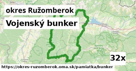 vojenský bunker v okres Ružomberok