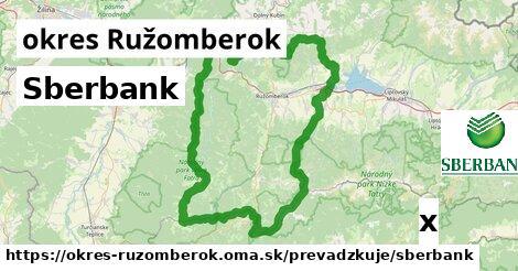 Sberbank v okres Ružomberok