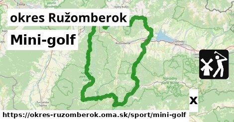 Mini-golf, okres Ružomberok