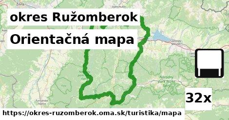 orientačná mapa v okres Ružomberok