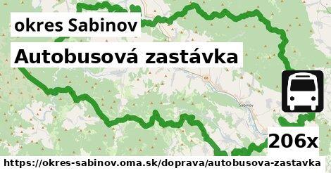 ilustračný obrázok k Autobusová zastávka, okres Sabinov