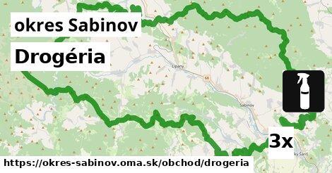 ilustračný obrázok k Drogéria, okres Sabinov