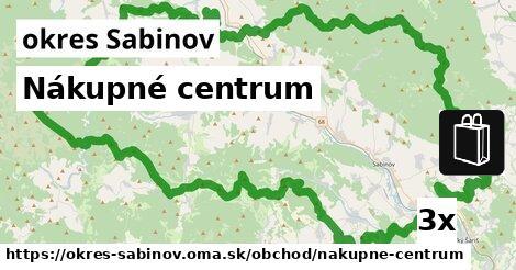 ilustračný obrázok k Nákupné centrum, okres Sabinov