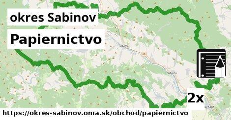 ilustračný obrázok k Papiernictvo, okres Sabinov