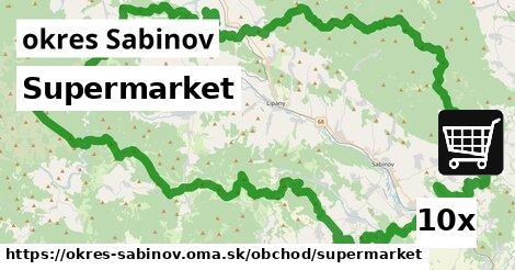 ilustračný obrázok k Supermarket, okres Sabinov
