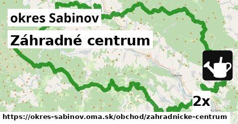 ilustračný obrázok k Záhradné centrum, okres Sabinov