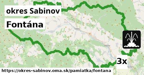 ilustračný obrázok k Fontána, okres Sabinov