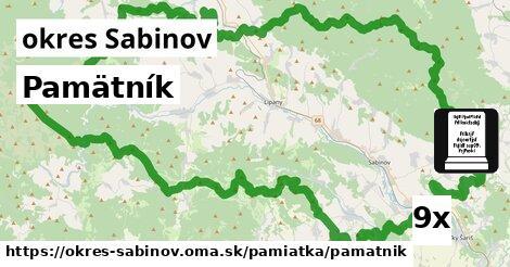 ilustračný obrázok k Pamätník, okres Sabinov