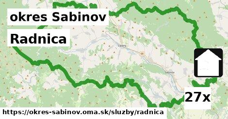 ilustračný obrázok k Radnica, okres Sabinov